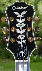 Epiphone Sheraton II with Mother of Pearl Custom Guitar Inlays